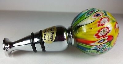 Classic Multi-Coloured Murano Art Glass Bottle Stopper By A Dal Borgo Venice