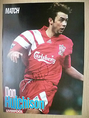 Original Hand Signed Press Cutting- DON HUTCHISON, Liverpool FC (apx. A4 ).
