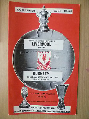1974 League Division One- LIVERPOOL v BURNLEY