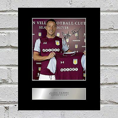 John Terry Signed Mounted Photo Display Aston Villa FC