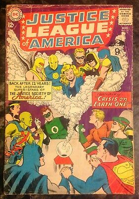 Justice League of America #21 (1963) 1st Silver Age JSA - 1st JSA/JLA Team Up