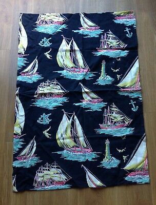 A Piece of Vintage Curtain Fabric - 1950s