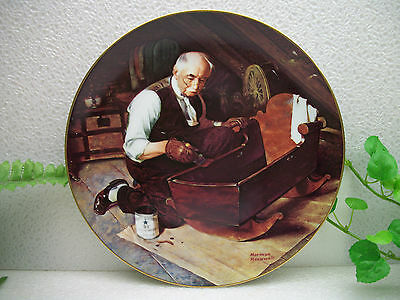Norman Rockwell Golden Moments Collection GRANDPA'S GIFT Collector Plate  #1