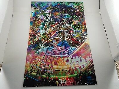-lot of 11- JERRY GARCIA posters 16x11 color changing RGB print -by jumbie art