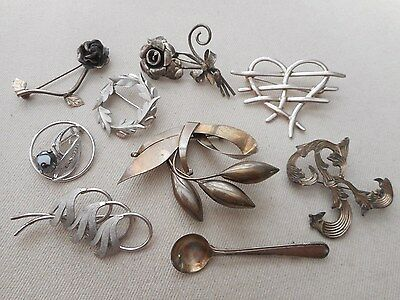 Vintage Sterling Silver Brooch Pin Jewelry Lot  Beau Van Dell Taxco REDUCED!!