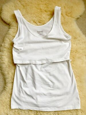 EUC Boob Design Organic Cotton Maternity & Nursing Tank Discreet Breastfeeding M