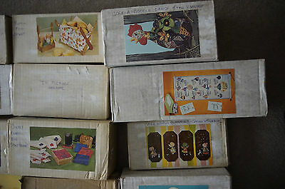 National Handcraft Society kit Fad of the Month club 1970's Lot 21 pc craft kits