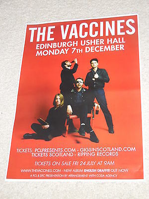 THE VACCINES - CONCERT POSTER - live gig tour poster - Buy 1 get 1 Half Price