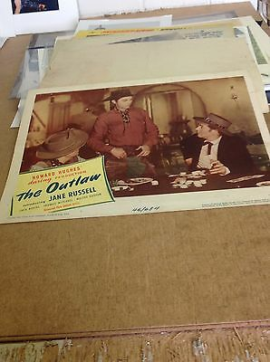 Jane Russell The Outlaw 1946 Original Lobby Poster