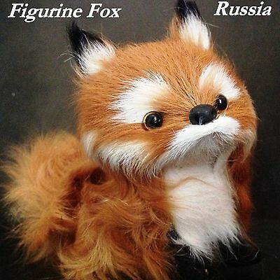 Fox figurine toy fur Souvenir from Russia for the collection of the Fox's
