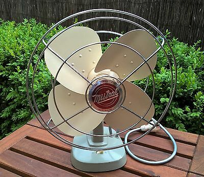 Vintage Mistral Oscillating Desk Fan - Fully Working 1960s