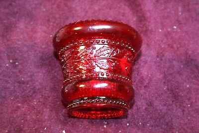 Unique Red HOLLY  Pattern Toothpick Holder - Unmarked