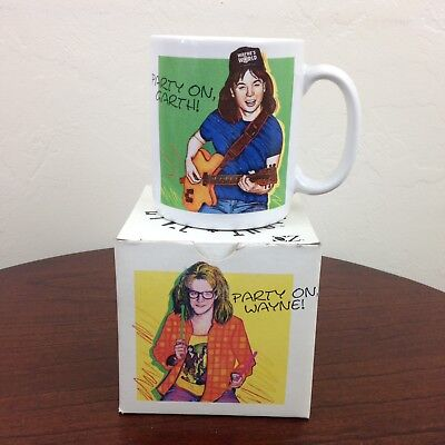 Vintage 90s SNL Wayne's World Party On Mug - New in Box - Saturday Night Live