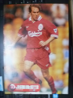 Original Hand Signed Press Cutting- JASON McATEER, Liverpool FC (apx. A4.)