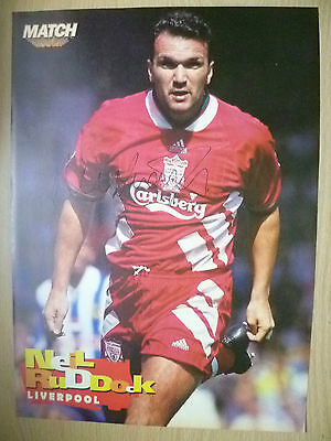 Original Hand Signed Press Cutting- NEIL RUDDOCK, Liverpool FC ( appx. A4)