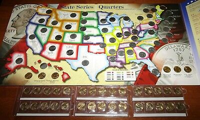 COMPLETE SET of U.S. States, Districts & America the Beautiful Quarters - 25¢