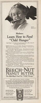 1913 Beech Nut Peanut Butter Becky Learn How To Feed Child Hunger Print Ad