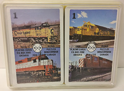 VINTAGE TRAIN CARD GAME - by MAINLINER PLAYING CARDS - DAVE MORIN Canada