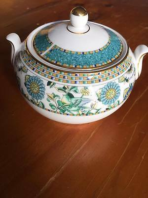 """Wedgwood """" Babylon """" Lidded Sugar Bowl Discontinued Pattern Hard To Find P/cond!"""