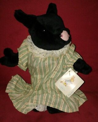 Vintage 1986 Eden Beatrix Potter Pig Wig Plush Stuffed Animal tags on