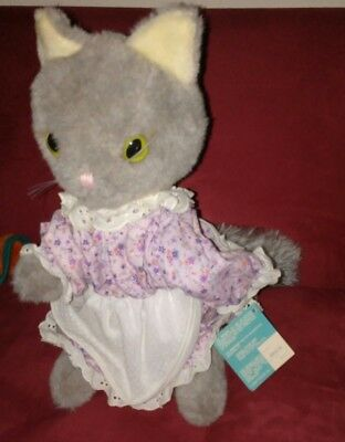 Vintage 1982 Eden Beatrix Potter Mrs. Tabitha Twitchit Cat Plush Stuffed Animal