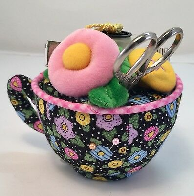 Mary Engelbreit Fabric Teacup Collectible Pin Cushion