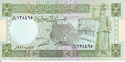 Syria, 1991 5 Pounds P100e  ((UNC))