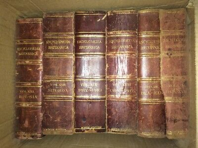 Encyclopedia Britannica 9th Edition Single Volumes 1888