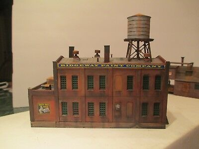 """Excellent Detailed & Weathered N Scale Factory  Building """"ridgeway Paint Co."""""""