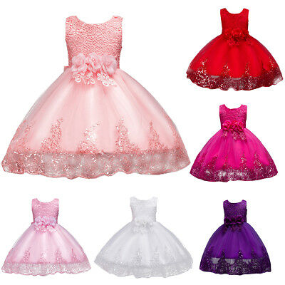 Toddler Baby Girls Princess Dress Flower Girl Wedding Pageant Party Gown Dresses