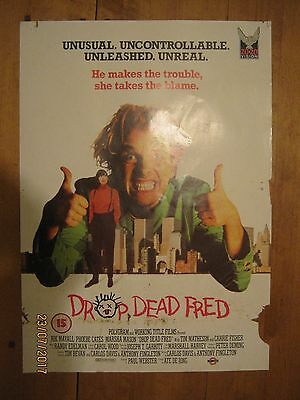 Original VHS Video Poster Drop Dead Fred Rik Mayall