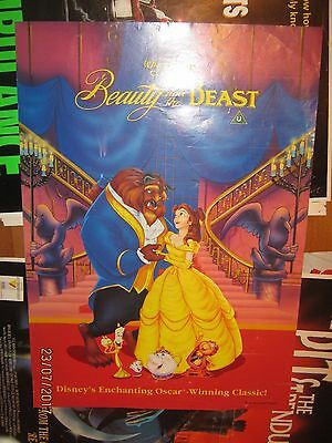 Original VHS Video Poster Beauty And The Beast Disney