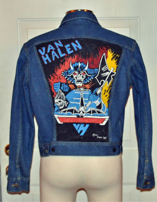 Artist Signed Vintage 1983 Van Halen Painted Jean Jacket Crazy Don