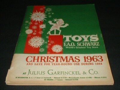 1963 FAO Schwarz Christmas Toy Catalog Toys Dolls Trucks Cars Records