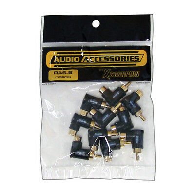 Rca Right Angle Adapter Black 10 Pieces; Xscorpion