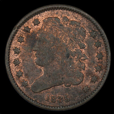 1835 Classic Head Early Copper Half Cent 1/2C Circulated