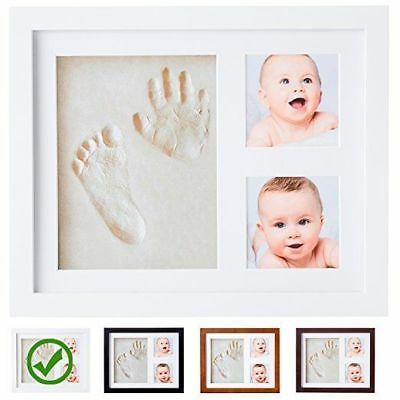 Baby Footprint Kit Non-toxic Clay Mold Two Picture Frame Infant Shower Photo Hot