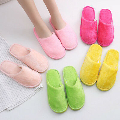 Women Men Anti-Slip House Indoor Slippers Home Warm Cotton Shoes Sandals Soft