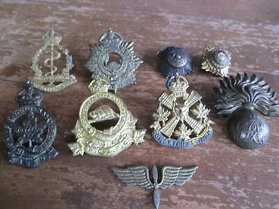WWII KC Assorted Canadian Badge Lot (Lot of 9) Including (1) Roden