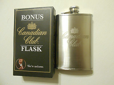 New Canadian Club Flask in Original Box Schnapps House Bar Club Man Cave