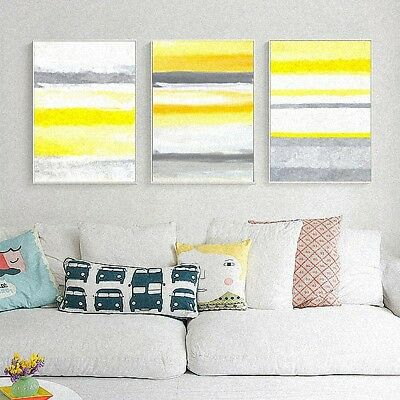 Nordic Simple style Hand Painted Abstract Poster Canvas Art Print Home Decor