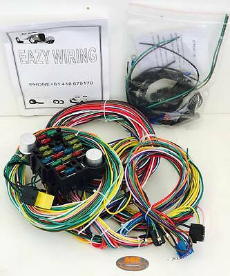 Hot Rod Eazy Wiring Harness 21 Circuit + Headlight & Dimmer Switch - Ford, Chev