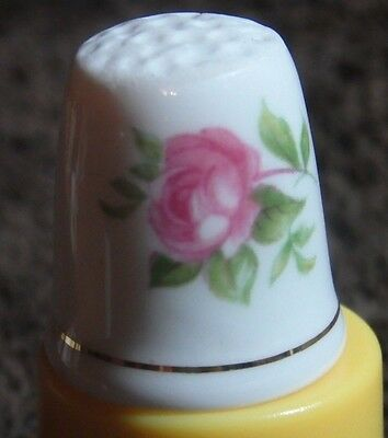 Vintage Floral Mothers Day Fine Bone China Thimble By Ashleydale Made In England