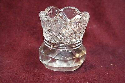 Fascinating Diamond with Fan Pattern Toothpick Holder - Unsigned