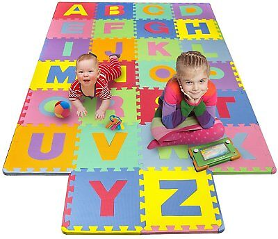Matney Foam Mat of Alphabet Puzzle Pieces– Great for Kids to Learn and Play –