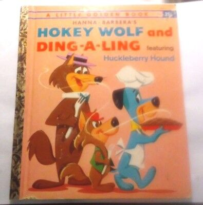 Old Vintage Little Golden Book Hokey Wolf & Ding A Ling  By S Q Hyatt (A) 1961