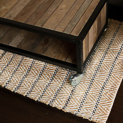 90X150 Jute Floor Rug Aster Modern Fab Rugs Natural Hampton Flatweave New