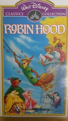 Walt Disney Robin Hood Classic Collections VHS Movie Video As new,