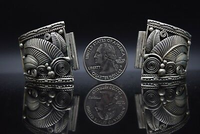 Navajo Native American Sterling Silver Pawn Watch Tips