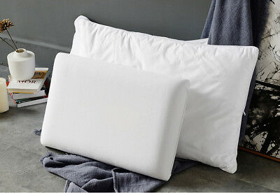 Memory Foam Pillow 2 In 1 With REMOVABLE Cover  - Firm Support - Mid/High Loft